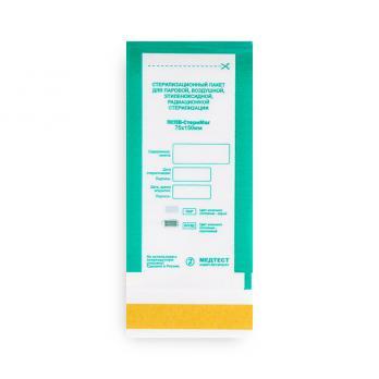 ПСПВ-СтериМаг  Пакет для паровой, воздушной, этиленоксидной, радиационной стерилизации комбинированный  самоклеящийся плоский   75*150 10 шт