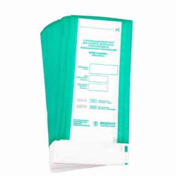 ПСПВ-СтериМаг  Пакет для паровой, воздушной, этиленоксидной, радиационной стерилизации комбинированный  самоклеящийся плоский  100*200 10 шт